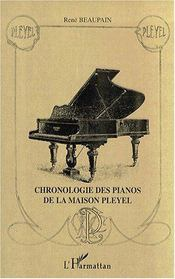 Chronologie des pianos de la maison Pleyel - Couverture - Format classique