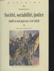 Societe Sociabilite Justice - Couverture - Format classique