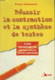 Contraction et synthese de texte prepa hec - Couverture - Format classique