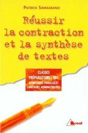 Contraction et synthese de texte prepa hec - Intérieur - Format classique
