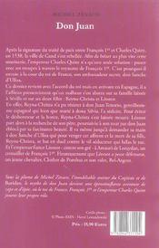 Don Juan - 4ème de couverture - Format classique