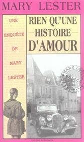 MARY LESTER ; rien qu'une histoire d'amour - Intérieur - Format classique