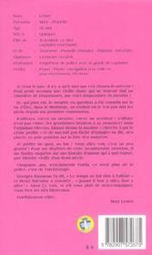 MARY LESTER ; rien qu'une histoire d'amour - 4ème de couverture - Format classique