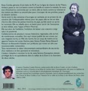 Rose combe, la romancière garde-barrière de la vallée de la dore - 4ème de couverture - Format classique