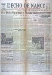 Echo De Nancy (L') N°1010 du 10/09/1943 - Couverture - Format classique