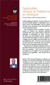 Spiritualites Antique Et Chretienne En Dialogue Thomas D'Aquin Heritier Spirituel D'Aristote - 4ème de couverture - Format classique