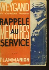 Memoires Rappele Au Service - Couverture - Format classique