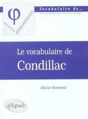 Le vocabulaire de Condillac - Intérieur - Format classique