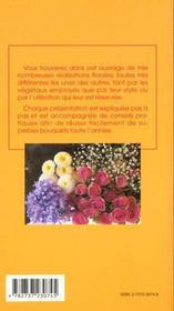 Des bouquets toute l'annee - 4ème de couverture - Format classique