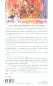 Choisir sa psychotherapie - 4ème de couverture - Format classique