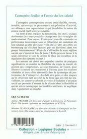 L'Entreprise Flexible Et L'Avenir Du Lien Salarial - 4ème de couverture - Format classique