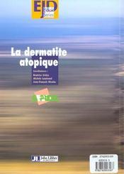 Dermatite Atopique - 4ème de couverture - Format classique
