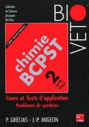 Chimie Bcpst T.2 ; Cours Et Tests D'Application ; 5e Edition - Intérieur - Format classique