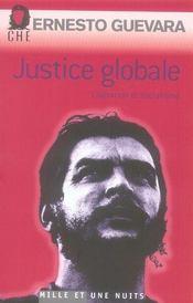 Justice globale ; libération et socialisme - Intérieur - Format classique