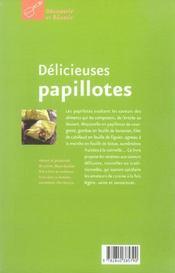 Delicieuses papillotes - 4ème de couverture - Format classique