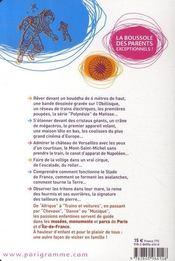 Découvrir paris est un jeu d'enfant (édition 2007) - 4ème de couverture - Format classique