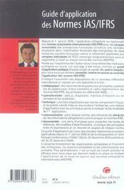 Guide D'Application Normes Ias/Ifrs - 4ème de couverture - Format classique
