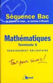 Mathematiques terminale s enseignement obligatoire - Intérieur - Format classique