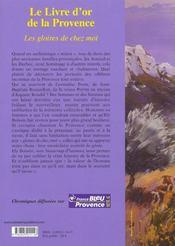 Le Livre D'Or De La Provence - Les Gloires De Chez Moi - 4ème de couverture - Format classique