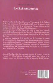 Roi Amoureux (Le) - 4ème de couverture - Format classique