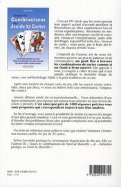 Toutes Les Combinaisons Du Jeu De 32 Cartes - 4ème de couverture - Format classique