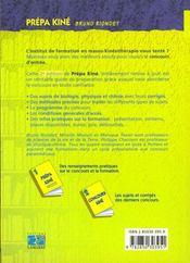 Prepa kine (biologie physique chimie) 2e edition - 4ème de couverture - Format classique