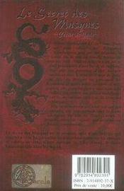 Qin t.1 ; le secret des masques - 4ème de couverture - Format classique