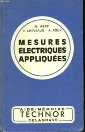 Mesiures Electriques Appliquees - Couverture - Format classique
