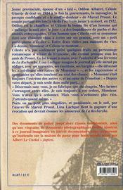 Vous, marcel proust ; journal imaginaire de céleste albaret - 4ème de couverture - Format classique