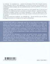Russel - 4ème de couverture - Format classique