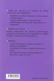 Puissances De L'Imagination Malebranche De L'Imagination Cervantes Don Quichotte Proust Amour Swann - 4ème de couverture - Format classique