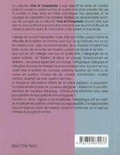 Allergies Et Environnement L'Allergologue Sentinelle De L'Environnement - 4ème de couverture - Format classique