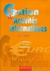 Gestion Et Activites Info 1re Stt - Couverture - Format classique