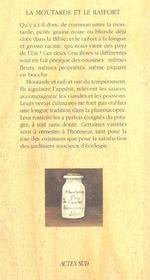 La Moutarde Et Le Raifort - 4ème de couverture - Format classique