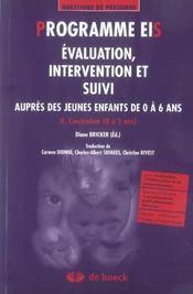 Programme Eis - Evaluation, Intervention Et Suivi T2 - Intérieur - Format classique