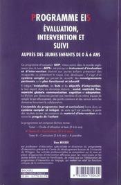 Programme Eis - Evaluation, Intervention Et Suivi T2 - 4ème de couverture - Format classique