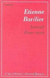 Journal D'Une Mort - Couverture - Format classique