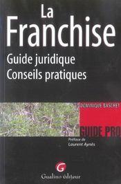 La franchise. guide juridique et conseils - Intérieur - Format classique
