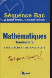 Mathematiques terminale s ; enseignement de specialite - Couverture - Format classique