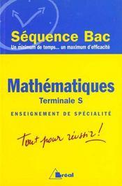 Mathematiques terminale s ; enseignement de specialite - Intérieur - Format classique
