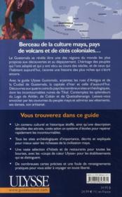 Guatemala (2e édition) - 4ème de couverture - Format classique