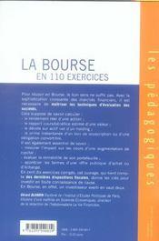 La bourse en 110 exercices (2e edition) - 4ème de couverture - Format classique