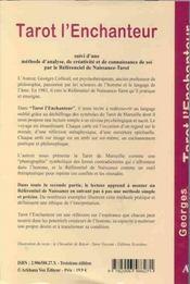 Tarot L'Enchanteur - 4ème de couverture - Format classique