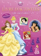 Disney princesse ; livre d'activités avec autocollants - Couverture - Format classique