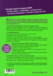 REUSSIR SON CONCOURS ; AS/AP 2013 ; tout en un (5e édition) - 4ème de couverture - Format classique