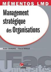 Management stratégique des organisations - Couverture - Format classique