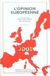 L'opinion européenne 2001 - Intérieur - Format classique