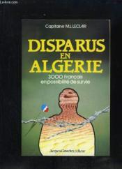 Disparus en algerie - Couverture - Format classique