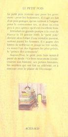 Le Petit Pois - 4ème de couverture - Format classique
