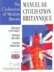 Manuel de civilisation britannique ; 1e cycle universitaire ; 2e edition - Intérieur - Format classique